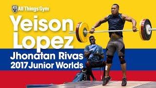 Colombian Power! Yeison Lopez & Jhonatan Training Hall at 2017 Junior Worlds