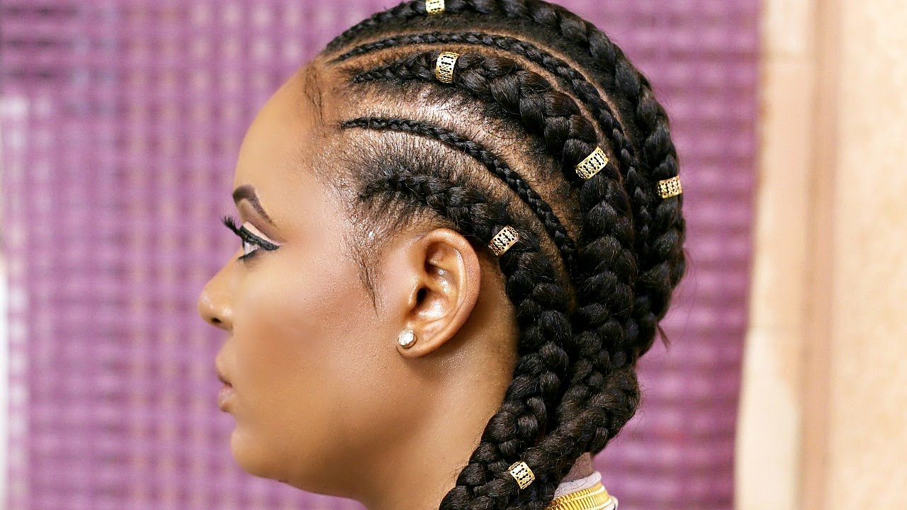 cornrow with extensions