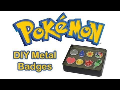 Making Real Metal Pokémon Badges