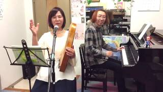 "Gakuseigai no Kissaten"" Playing the Maria Harp, Piano and Andes. Pe..."