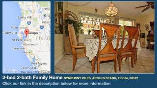 2-bed 2-bath Family Home for Sale in Apollo Beach, Florida on florida-magic.com