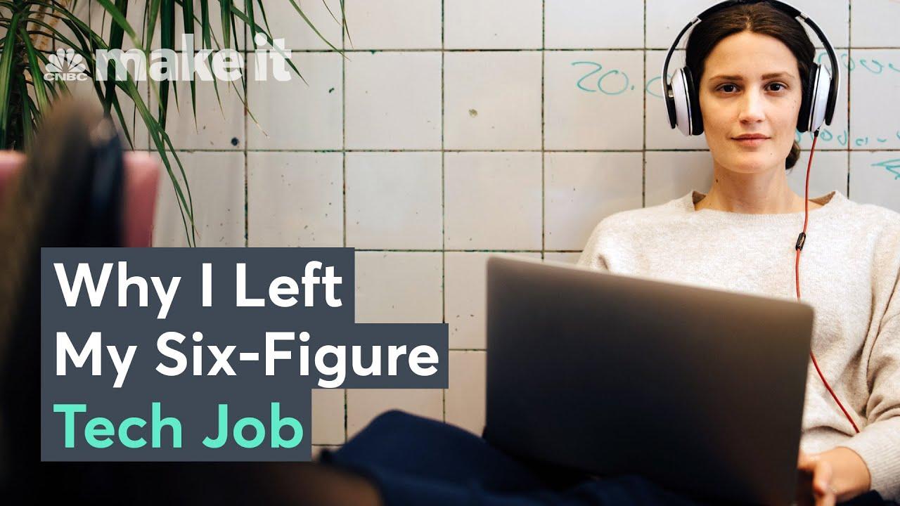 Why Millennials Are Leaving SixFigure Tech Jobs