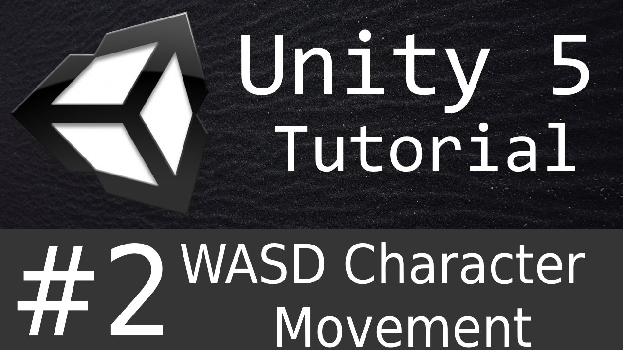 How to move objects using WASD in Unity 5