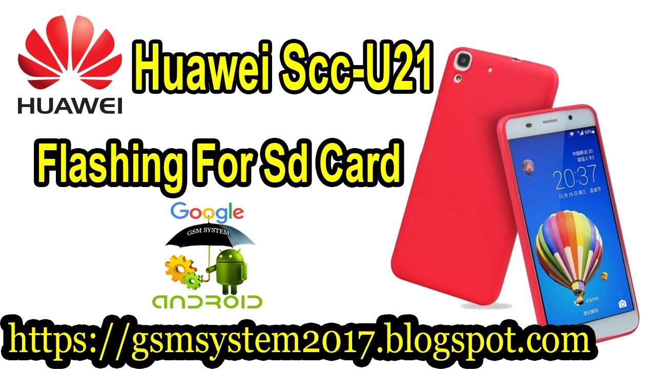 Huawei Scc U21 Flashing For Sd Card