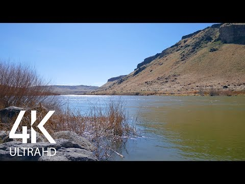 4K Nature Views with Soothing Sounds of Water from Celebration Park Idaho - 8 HRS