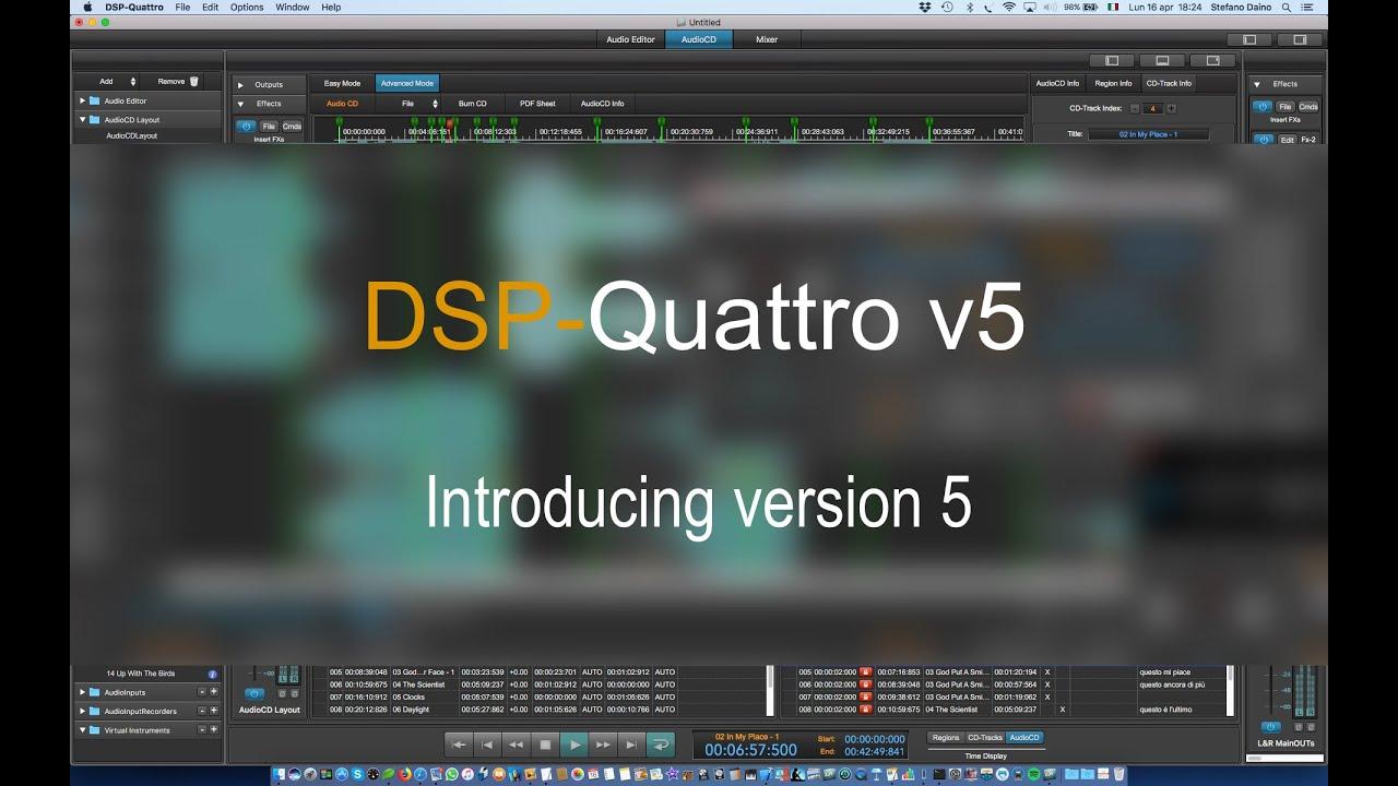 DSP-Quattro 5: Tutorial 01 - Introducing v5