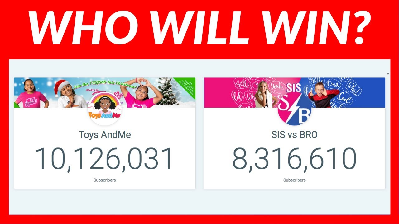 Tiana Toys And Me Vs Sis Vs Bro Live Sub Count Youtube