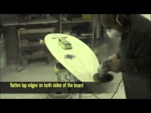 The Construction Process And Glassing Step, 6 hot coat surfboard,