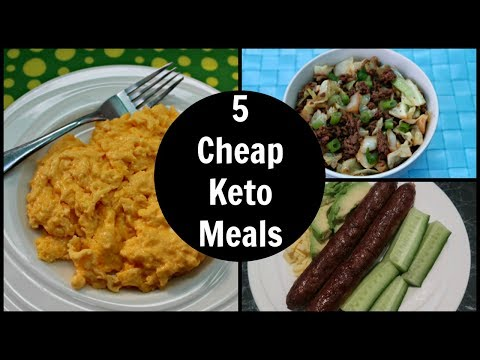 5 Cheap Keto Diet Meals | Low Carb Recipes On A Budget
