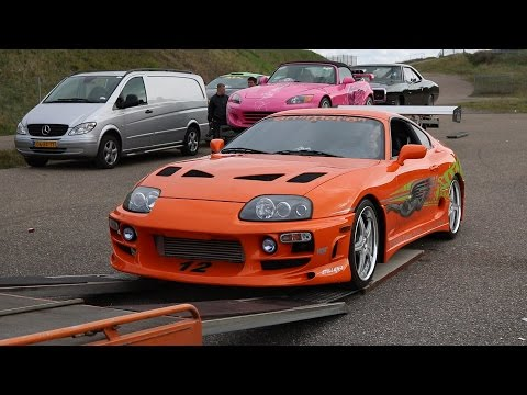 FAST & FURIOUS CARS AT FAN EVENT ZANDVOORT! (Brian's Eclipse, Original Supra & Dom's Charger)