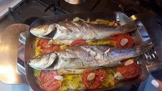 РЫБА С ОВОЩАМИ В ДУХОВКЕ /Levrek firinda/ fish with vegetables