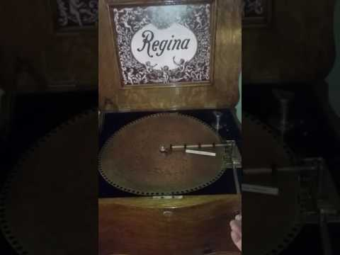 "Regina 15.5"" Music Box plays ""Tyrolean Chorus, Rossini"""