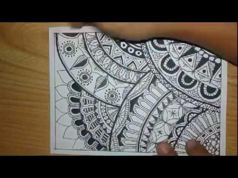 How To Zentangle Art Mode Fast and Quick Pola Batik Doodle