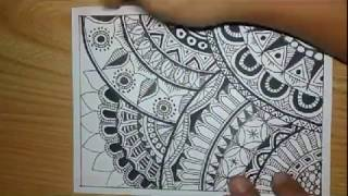 How To Zentangle Art Mode Fast And Quick Pola  Batik Doodle