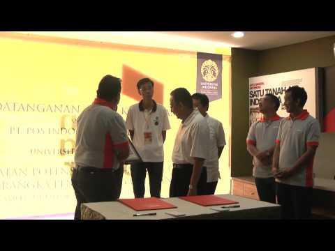 MOU UI dengan POS INDONESIA pada acara FISIP Home Coming Days