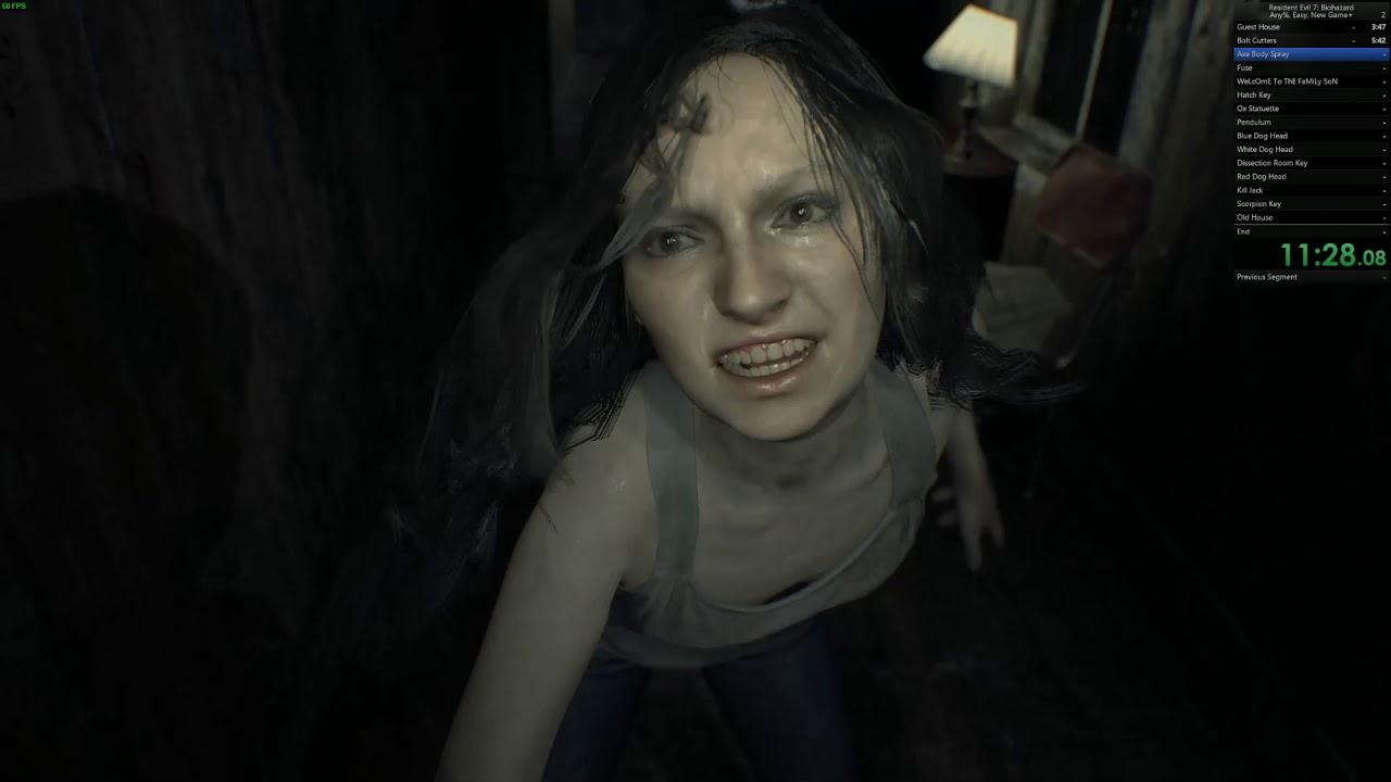 Resident Evil 7 speedrun, Any%, Easy, NewGame+ – 1:48:19