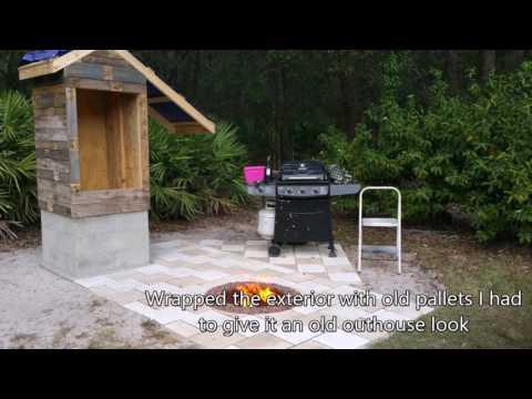 My Backyard Homemade Smokehouse Build Slideshow
