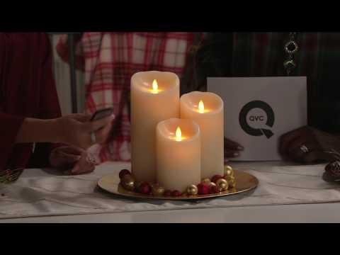 "Luminara Flameless Candle Garden with 5"", 7"" and 9"" Pillars on QVC"