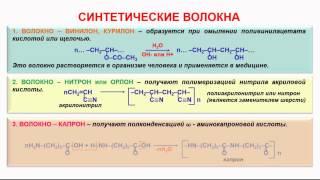 155. Органическая химия. Тема 22. Волокна. Часть 3. Синтетические волокна