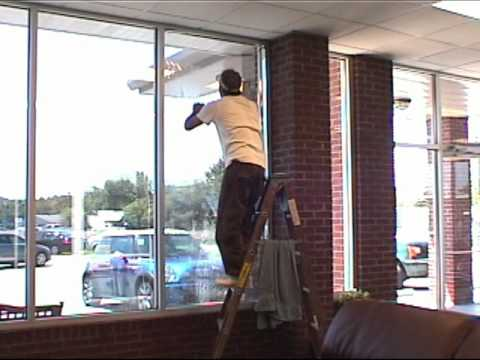 Tinting A Large Commercial Window