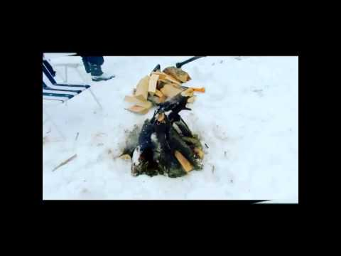 Короткое видео о шашлыкинге на Масленице у Деда Пака - Смешные видео приколы