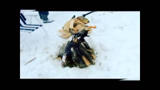 Короткое видео о шашлыкинге на Масленице у Деда Пака
