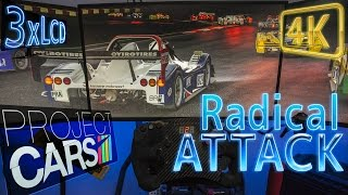 Glorious Project CARS Radical ATTACK | wet night open wheeler battle in 4K | #simporn