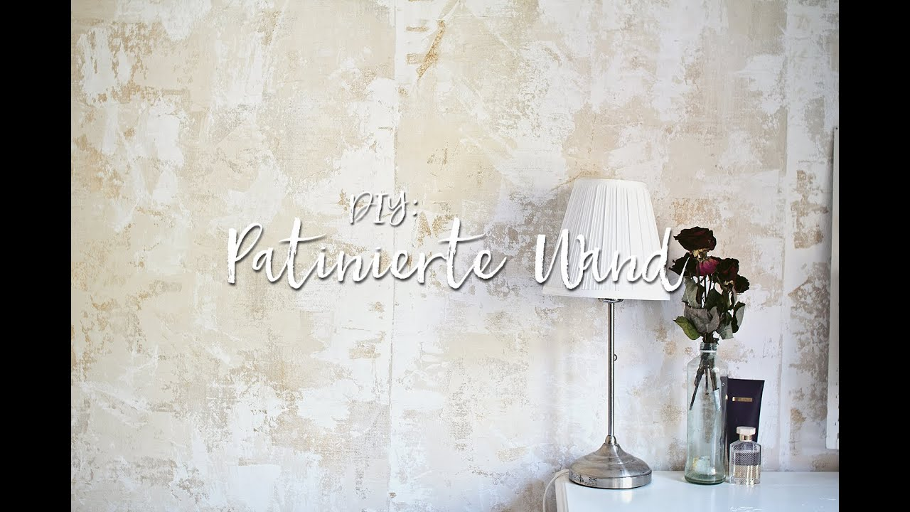 Shabby Chic Wand diy wandgestaltung - eine wand patinieren. #fauxpainting - youtube