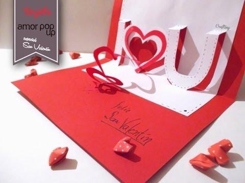 Tarjeta Pop Up  Amor para San Valentn  YouTube