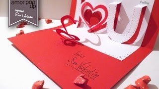 Tarjeta Pop Up - Amor (para San Valentín)