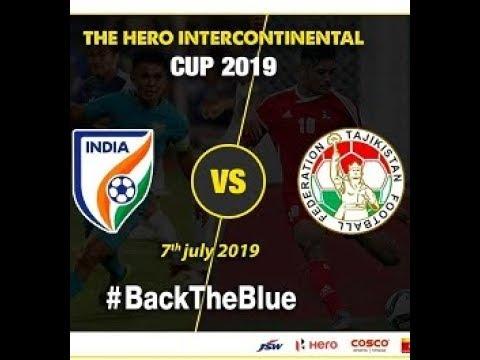 INTERCONTINENTAL CUP 2019 (INDIA VS TAJIKISTAN)|| MATCH 1|| BLUE TIGERS