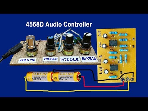IC 4558D Audio Volume controller circuit   Bass Circuit 4558   Simplest Audio Amplifier Circuit