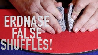 Erdnase System of Blind Shuffles Tutorial (Table Riffle Shuffles top and bottom stock retention)