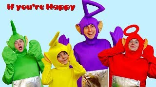 If You're Happy Song with Teletubbies
