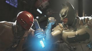 INJUSTICE 2 Red Hood vs Batman All Intros and Clashes