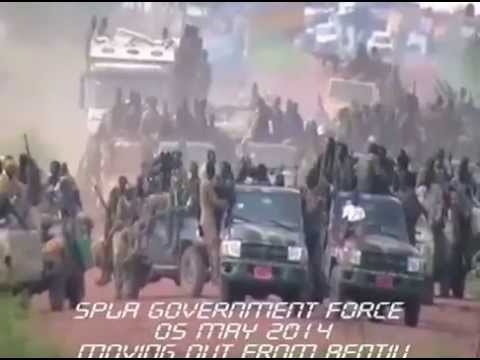 SPLA  forces retreating from Bentiu