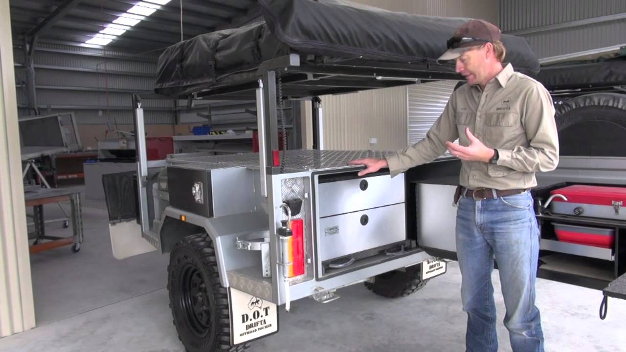 Camper Trailer Kitchen Drifta Camper Kitchen Setup And New Dot Factory Youtube