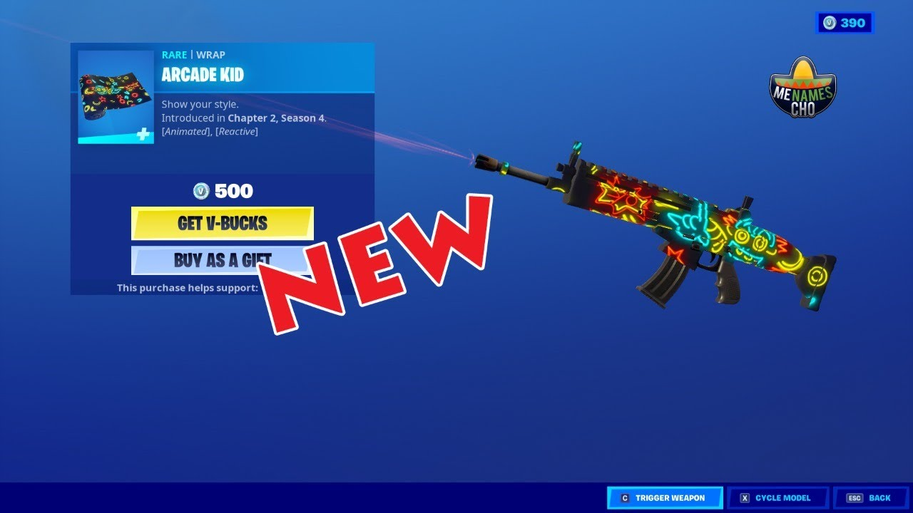 💥Fortnite Item Shop ARCADE KID Wrap - 21st September 2020 (Fortnite Battle Royale)