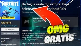 PLAYSTATION MORE FORTNITE PACK 3 GRATIS Tutorial Fortnite Battle Royale Ita