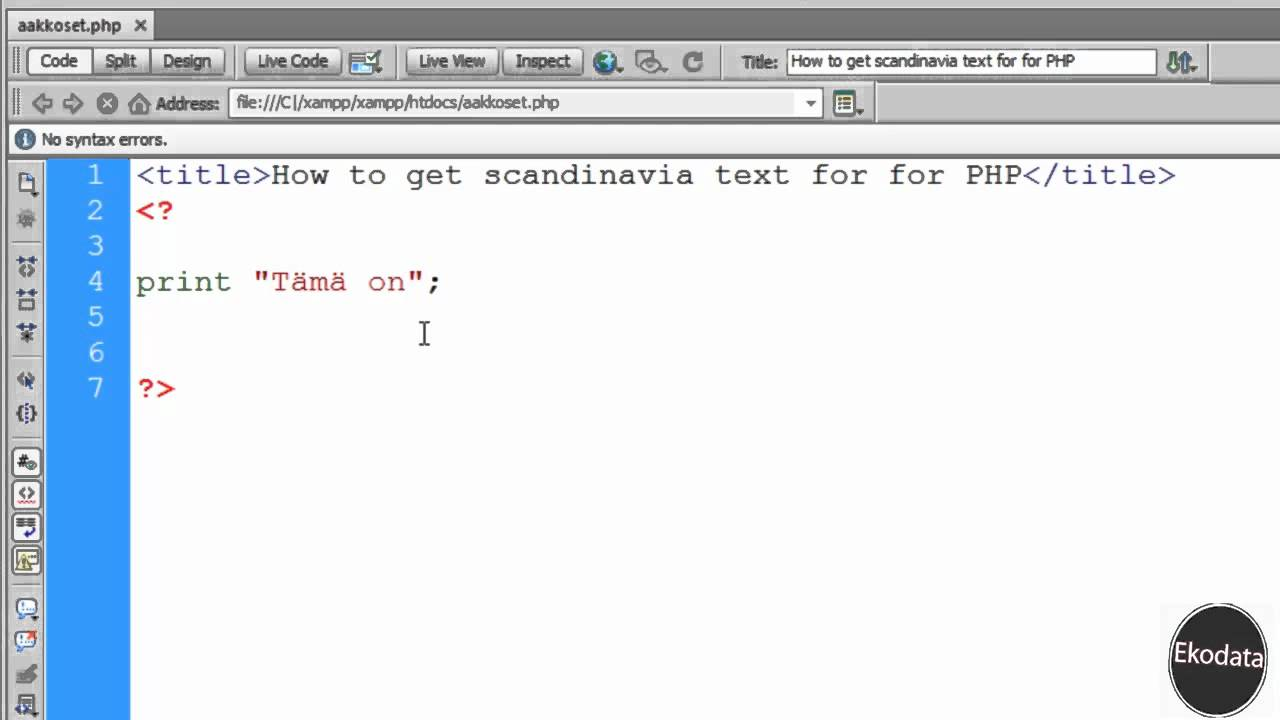 How to get scandinavian letters work for php html hd youtube how to get scandinavian letters work for php html hd spiritdancerdesigns Images