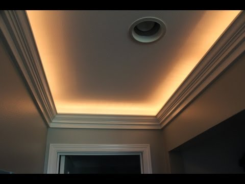 Crown Molding with Indirect Lighting Installation - YouTube
