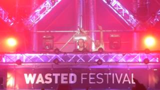 DJ B front & Digital Punk & Danny Scandal - (Adaro set) @ Wasted festival 2014 #WF14