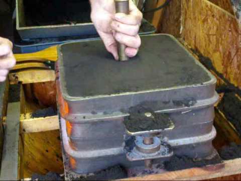 FOUNDRY WORK casting irregular line parting part 6 video B tubalcain