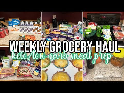 weekly-grocery-haul- -small-meal-prep- -keto/low-carb