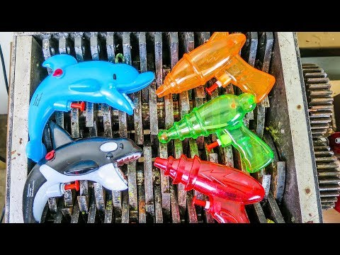 Water Guns Shredded! Sharks and Water Toys Guns Destroyed! What's Inside Summer Bathtub Toys?