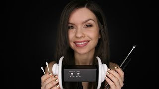 ASMR - Ear Cleaning // With Cotton & Brushes