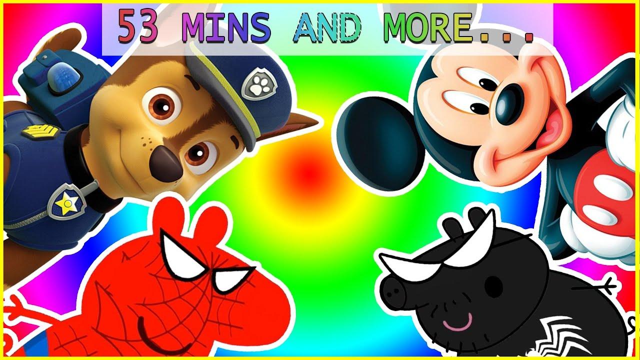 Paw Patrol Peppa Pig Mickey Mouse English Episodes Finger Family \ La Patrulla Canina En Español