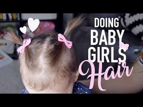 HOW TO DO YOUR BABY GIRLS SHORT HAIR 🎀 || BETHANY FONTAINE