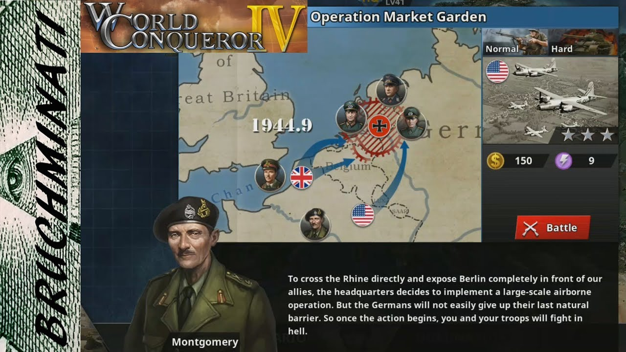 World Conqueror 4 | Allies Campaign #10 Operation Market Garden (No  Generals)