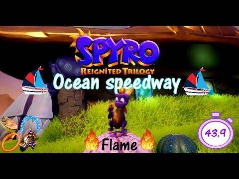Spyro 2RT Ocean speedway Flame 43.9 (WR)